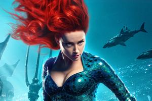 Amber Heard As Princess Mera In Aquaman Movie Wallpaper