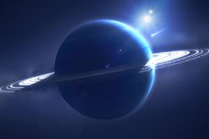 Ambient Planet Comet 5k Wallpaper