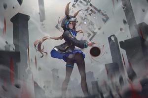 Amiya Ark Knights Anime Girl 4k Wallpaper