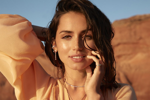 Ana De Armas Natural Diamond Photoshoot 4k Wallpaper