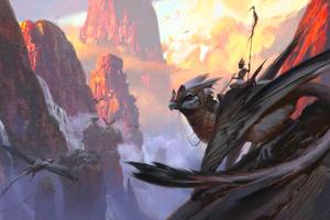 Ancient Big Bird Warrior 4k