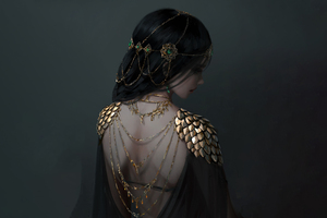 Ancient Girl Jewellery Wallpaper