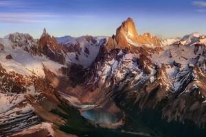 Andes Snowy Peak