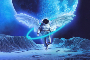 Angel Astronaut 4k