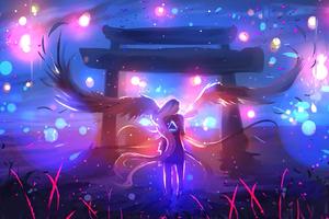 Angel Fantasy Wings Wallpaper