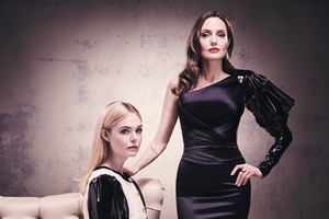 Angelina Jolie And Elle Fanning 2019 Wallpaper