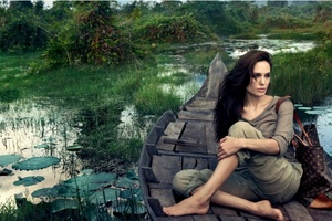 Angelina Jolie On Boat
