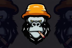 Angry Gorilla Minimal 4k Wallpaper