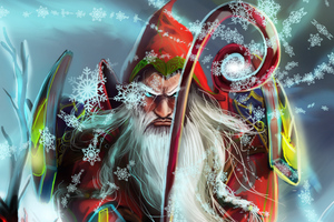 Angry Santa Claus Wallpaper