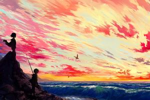 Anime Art 5k Wallpaper