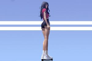 Anime Basketball Girl 4k