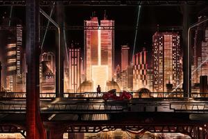 Anime City Scape 4k Wallpaper