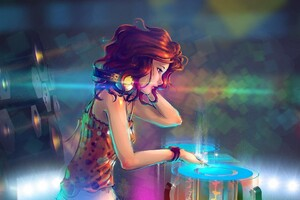 Anime DJ Girl Wallpaper
