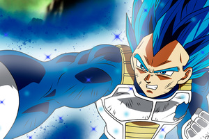 Anime Dragon Ball Super Vegeta SSJ Blue Full Power Wallpaper
