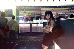 Anime Girl After School 8k Wallpaper