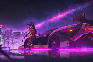 Anime Girl Cyberpunk Ride 4k
