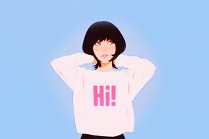 Anime Girl Hi Sweat Shirt 4k Wallpaper