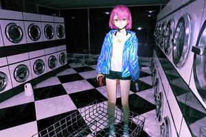 Anime Girl Laundary Day 4k