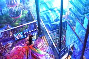 Anime Girl Roof 4k Wallpaper