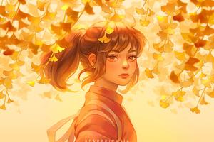 Anime Girl Spirtied Away 4k Wallpaper