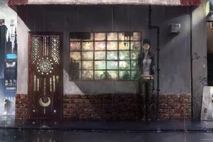 Anime Girl Standing In Rain Wallpaper