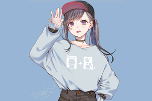 Anime Girl Sweater Hoods 4k Wallpaper