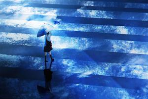 Anime Girl Umbrella Walking 5k Wallpaper