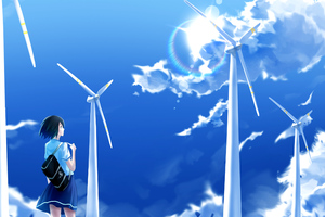 Anime Girl Windmill Wallpaper