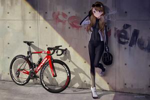 Anime Girl With Bike 4k Wallpaper