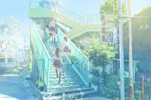 Anime Girls After School 4k Wallpaper