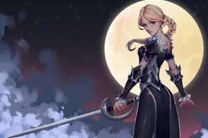 Anime Moon Girl 4k Wallpaper
