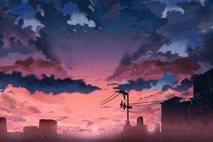 Anime Original Cable Lines 4k