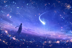 Anime Original Dreamy Constellations Artwork Wallpaper