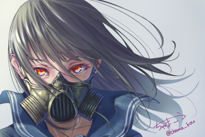Anime Original Girl With Mask