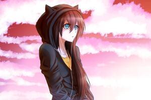 Anime Original Pink Sky