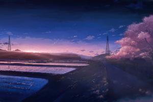 Anime Scenery Field 4k Wallpaper