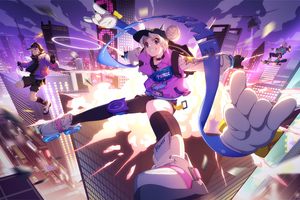 Anime Sneaker Girl Illustration