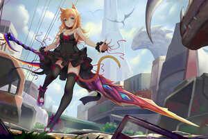 Anime Women Sword 8k Wallpaper