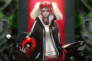 Ann Takamaki Biker Girl Anime 5k Wallpaper