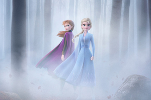Anna And Elsa In Frozen 2 4k Wallpaper