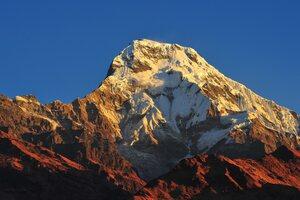 Annapurna Massif Mountain Range Nepal 4k