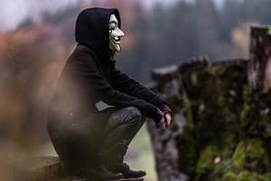 Anonymous Mask Guy Wallpaper