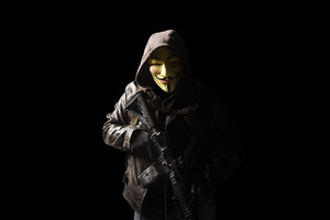 Anonymous Mask Person With Gun 5k