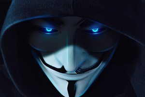 Anonymus Guy Blue Eyes 5k Wallpaper