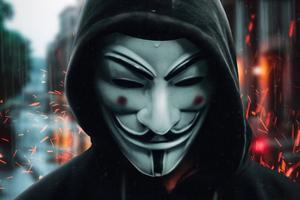 Anonymus Guy Closeup 4k