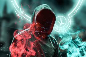 Anonymus Guy Magic Powers 4k Wallpaper