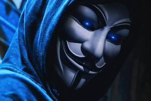 Anonymus Guy White Mask 4k Wallpaper