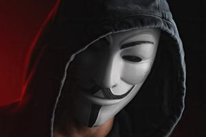Anonymus Guy White Mask Hoodie 4k Wallpaper