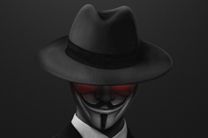 Anonymus Hat Guy 4k Wallpaper