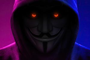 Anonymus Hoodie Closeup 4k